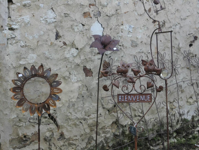 Déco De Jardin En Métal Rouillé Meilleray, Montmirail ... tout Decoration De Jardin En Fer Forgé