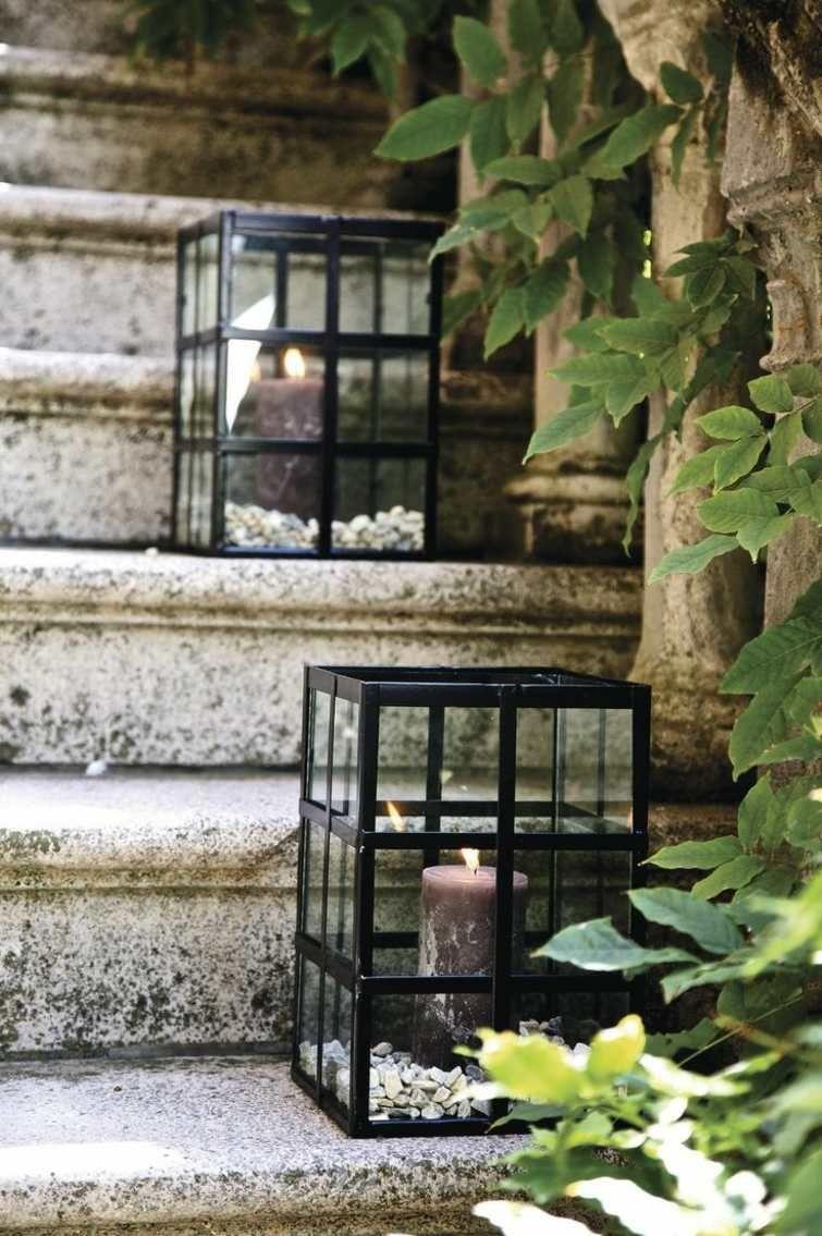 Déco D'escalier Extérieur Avec Des Lanternes | Lanterne ... tout Objets Decoration Jardin Exterieur