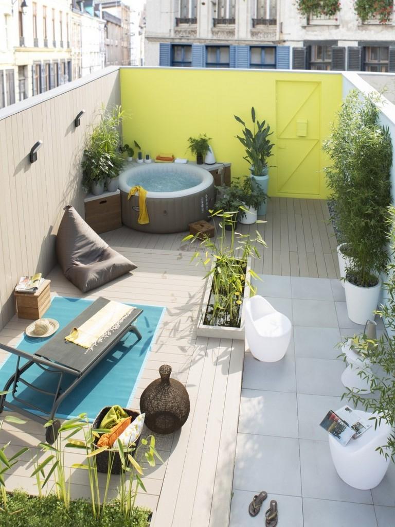 Déco Extérieure : Osez Le Mur Jardin Peint En Couleur - Joli ... tout Decoration Pour Mur Exterieur De Jardin