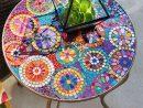 Déco Jardin Avec Mosaïque En 28 Beaux Exemples   Table De ... dedans Salon De Jardin Mosaique