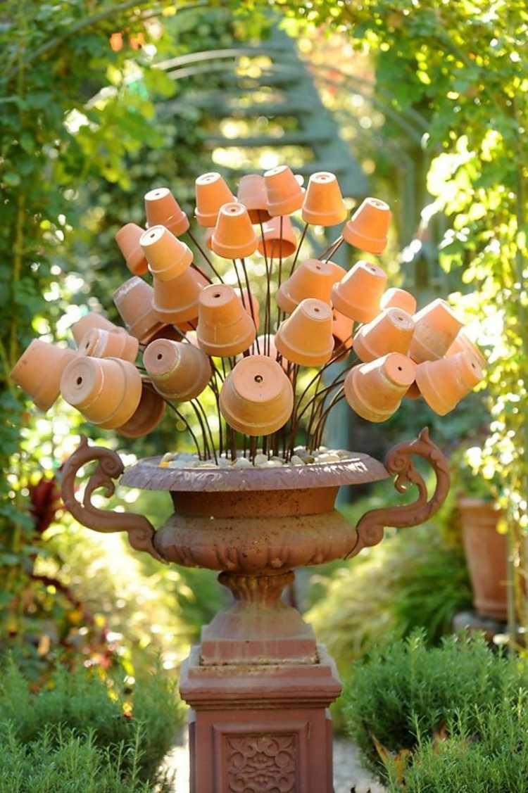 Déco Jardin Diy: Idées Originales Et Faciles Avec Objet De ... destiné Objet Decoration Jardin
