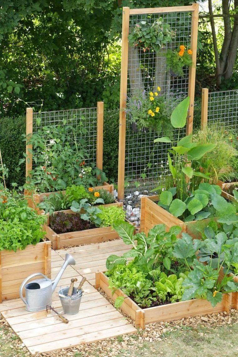 Déco Jardin Potager Pinterest Et Aménagement Extérieur Diy ... destiné Jardin En Carre