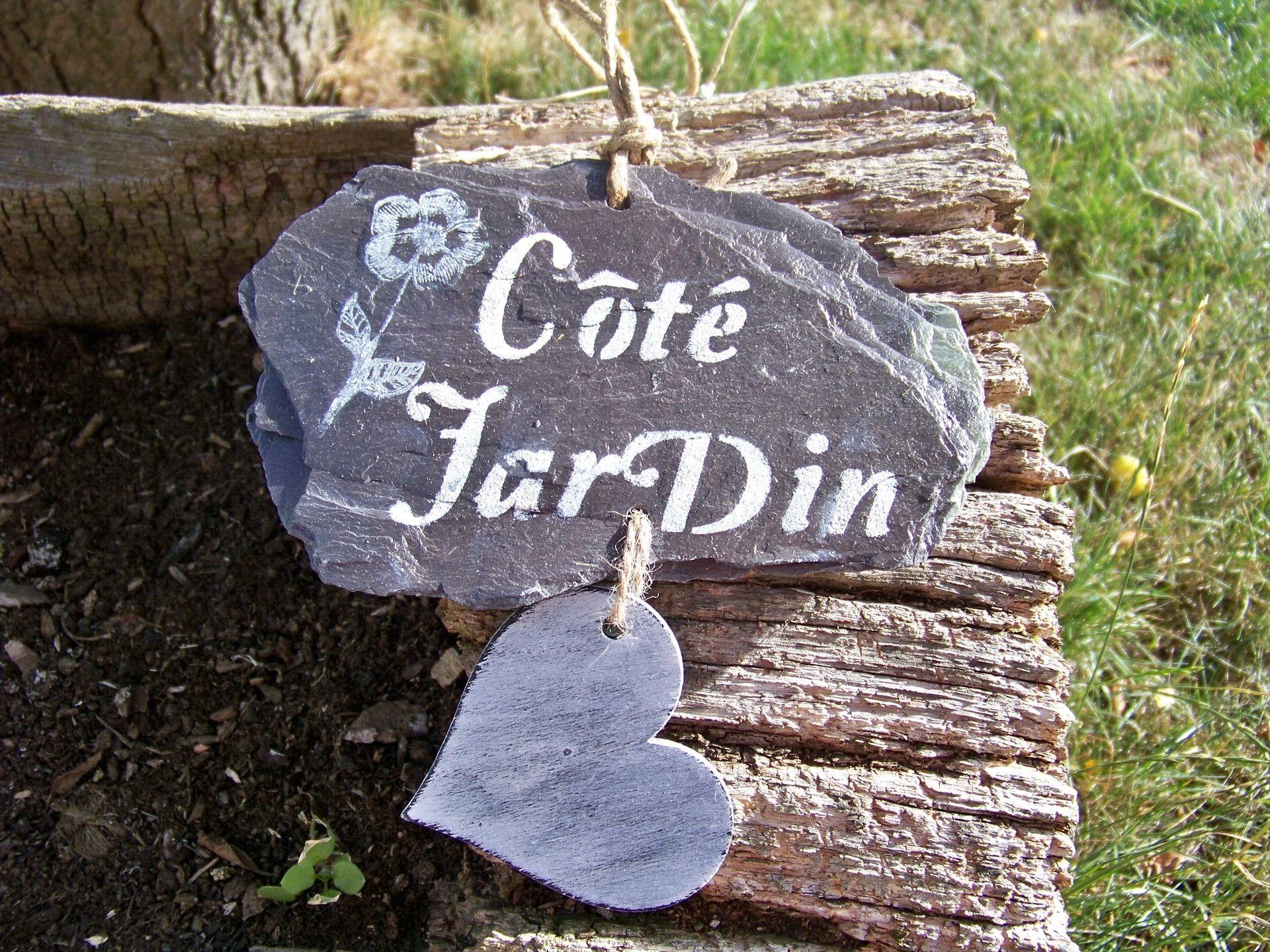 "Décoration De Jardin En Ardoise ""côté Jardin"",aménagement De ... avec Ardoise Deco Jardin"