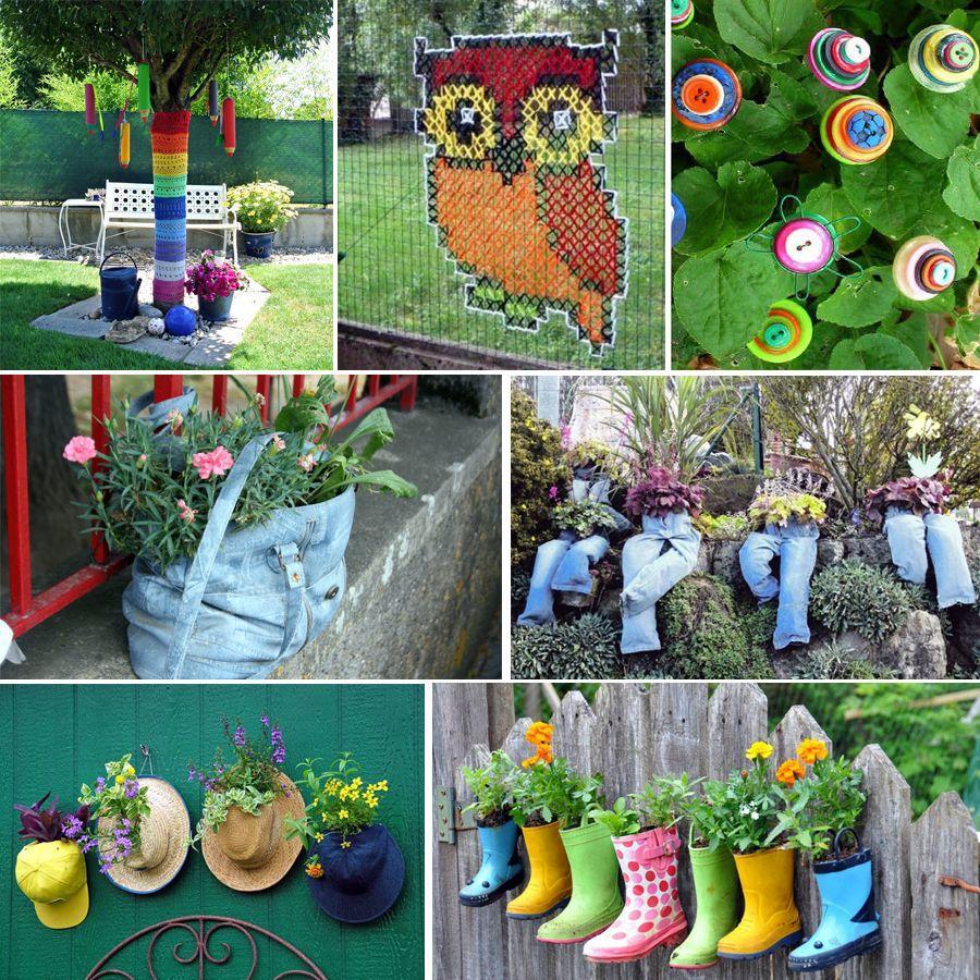 Décoration De Jardin En Objets De Récup' : Des Idées ... avec Objets Decoration Jardin Exterieur