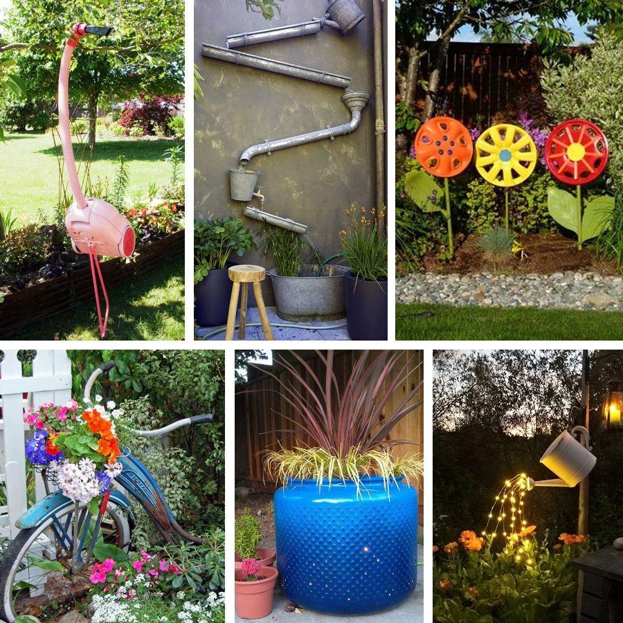 Décoration De Jardin En Objets De Récup' : Des Idées ... destiné Astuce Deco Jardin Recup