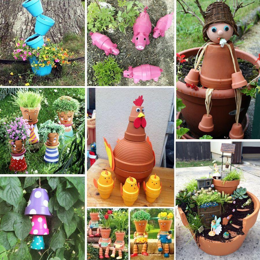 Décoration De Jardin En Objets De Récup' : Des Idées ... encequiconcerne Objets Decoration Jardin Exterieur