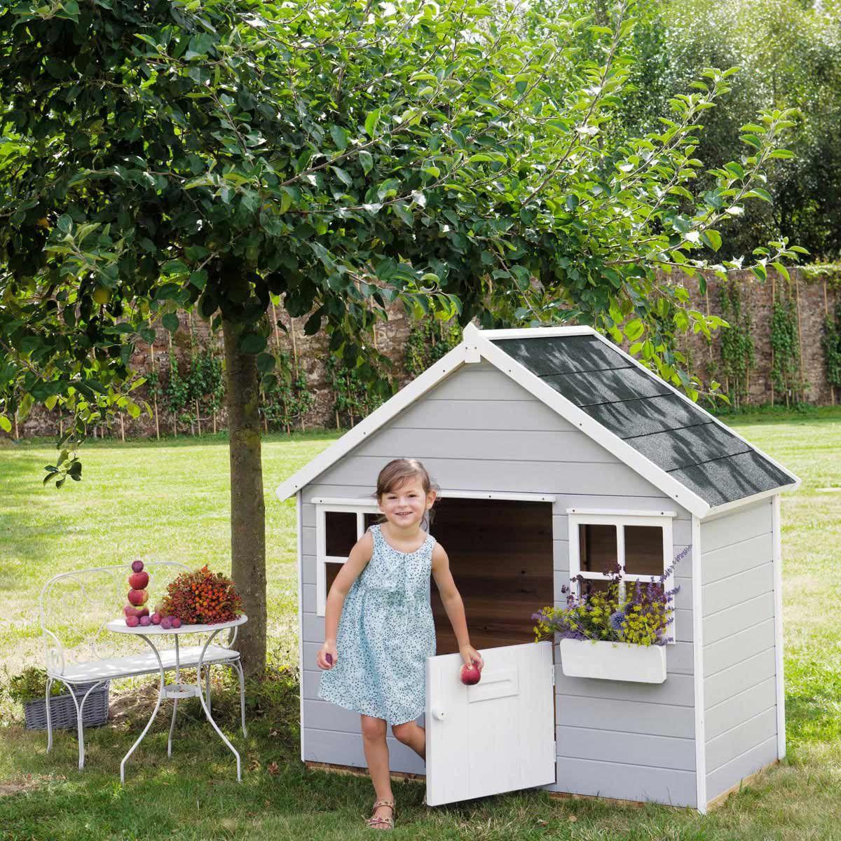 Décoration De Jardin | Garden Playhouse, Play Houses, Kids ... avec Cabane De Jardin Enfant Bois