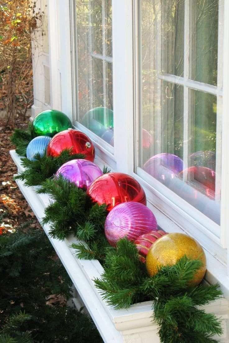 Décoration De Noël Extérieur – Boules De Noël Dans Le Jardin ... serapportantà Boule Deco Jardin
