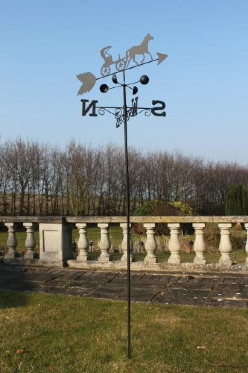 Décoration D'extérieur Jardin Girouette Arbres En Acier Avec ... concernant Girouette De Jardin