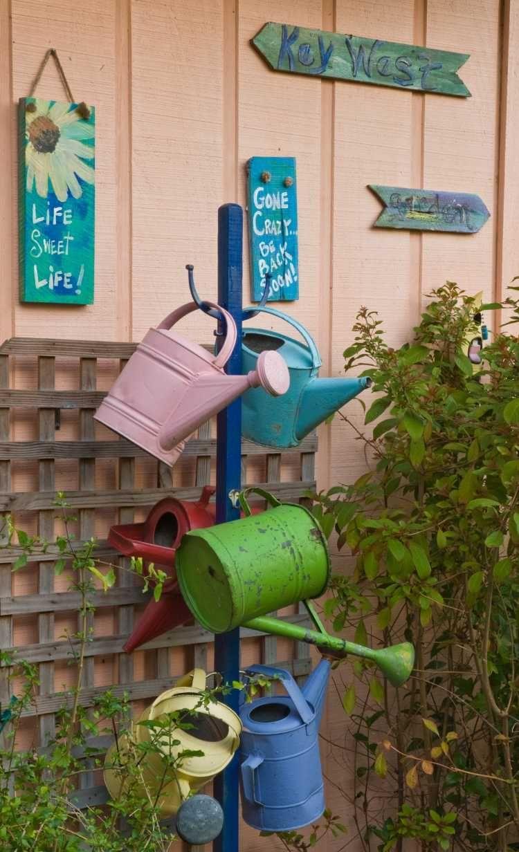 Décoration Jardin En Objets De Récupération En 31 Idées ... dedans Objet Decoration Jardin