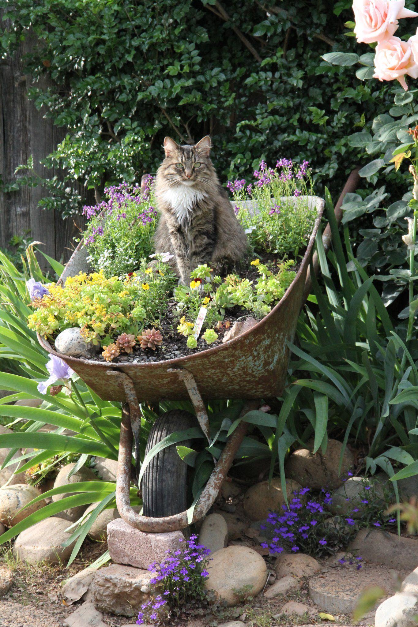 Décoration Jardin En Objets De Récupération En 31 Idées ... destiné Objet Decoration Jardin
