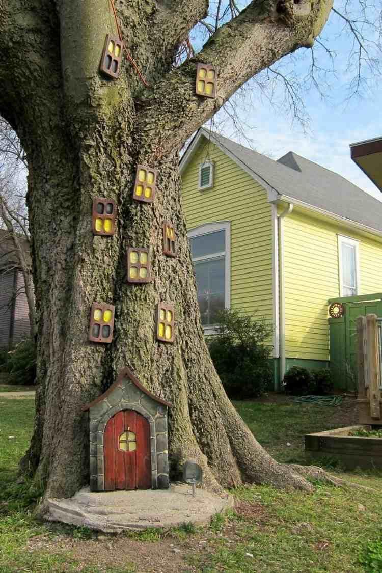 Décoration Pour Jardin À Faire Soi-Même–Porte De Gnome ... pour Decoration De Jardin A Faire Soi Meme