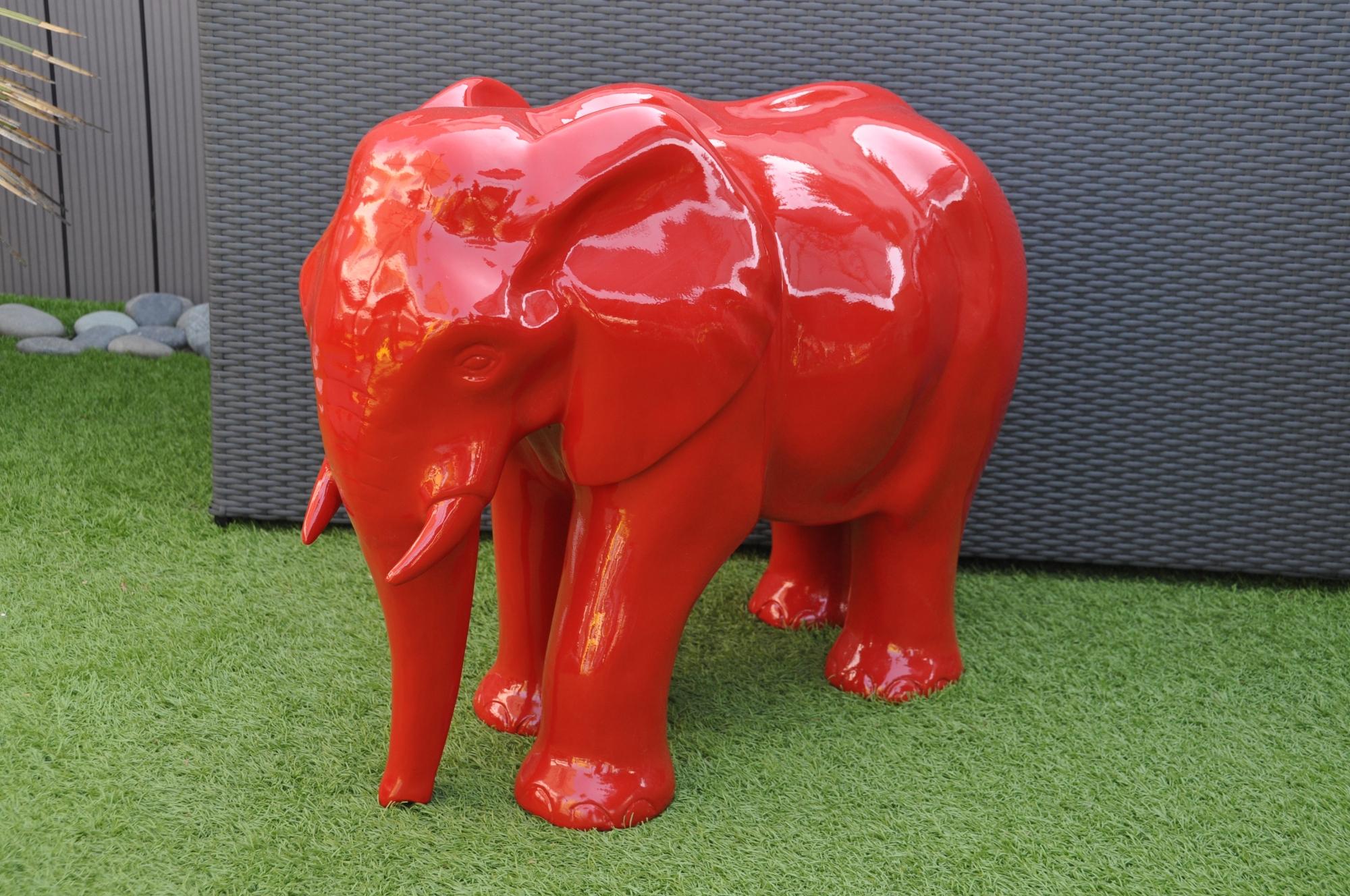 Décoration Sculpture Statue Éléphant Singe Animaux Extérieur ... destiné Animaux Resine Jardin