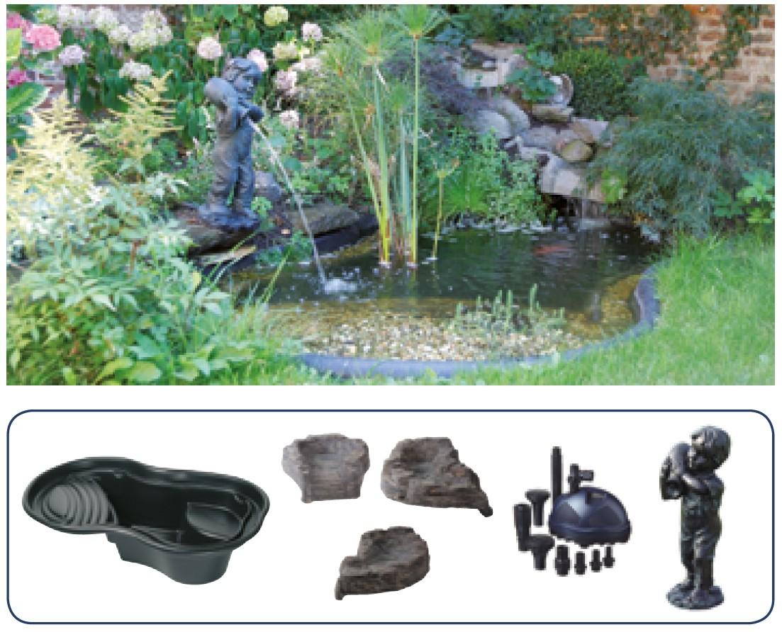 Découvrez Le Kit Bassin Ubbink 500 Litres Complet : Bassin ... dedans Kit Bassin De Jardin Préformé