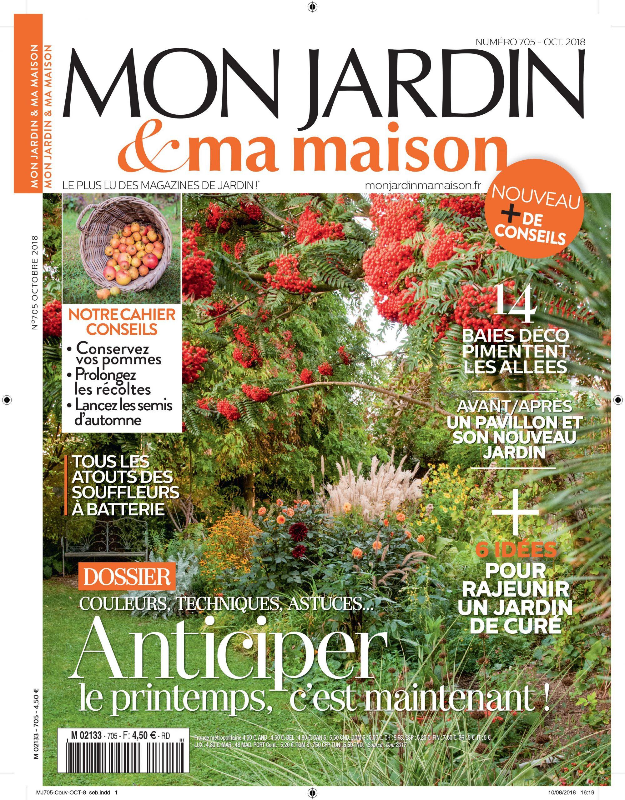 Découvrez Le Numéro 705 De Mon Jardin & Ma Maison En Kiosque ... avec Magazine Mon Jardin Et Ma Maison