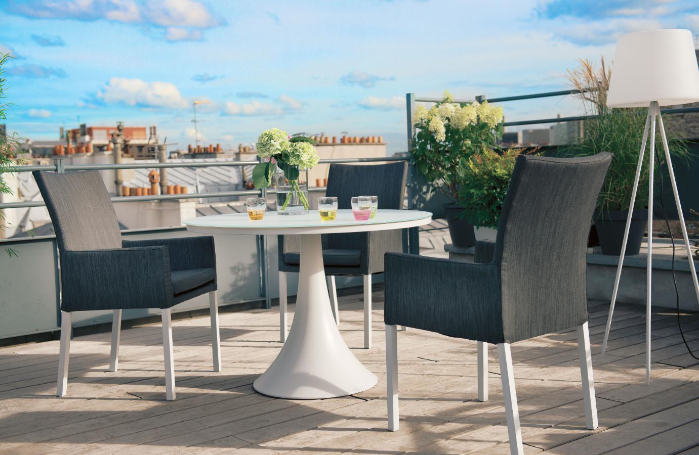 Déjeuner En Ville #truffaut   Coussin Gris, Mobilier Jardin ... pour Truffaut Table De Jardin
