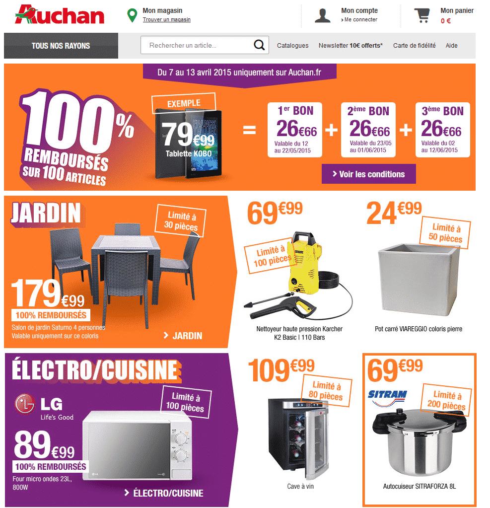Des Articles 100% Remboursés Sur Auchan (Karcher, Salon De ... pour Auchan Salon De Jardin