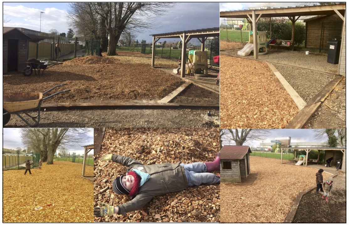 Des Copeaux De Bois À La Place Du Goudron Dans Les Écoles - Ccbv pour Prix Copeaux De Bois Jardin