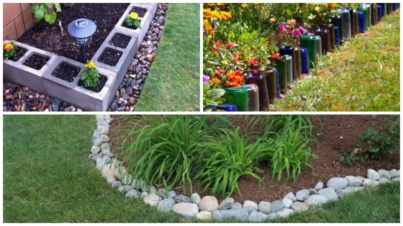 Des Idées Originales De Bordures De Jardin ! - Bricolage Maison pour Astuce Deco Jardin Recup