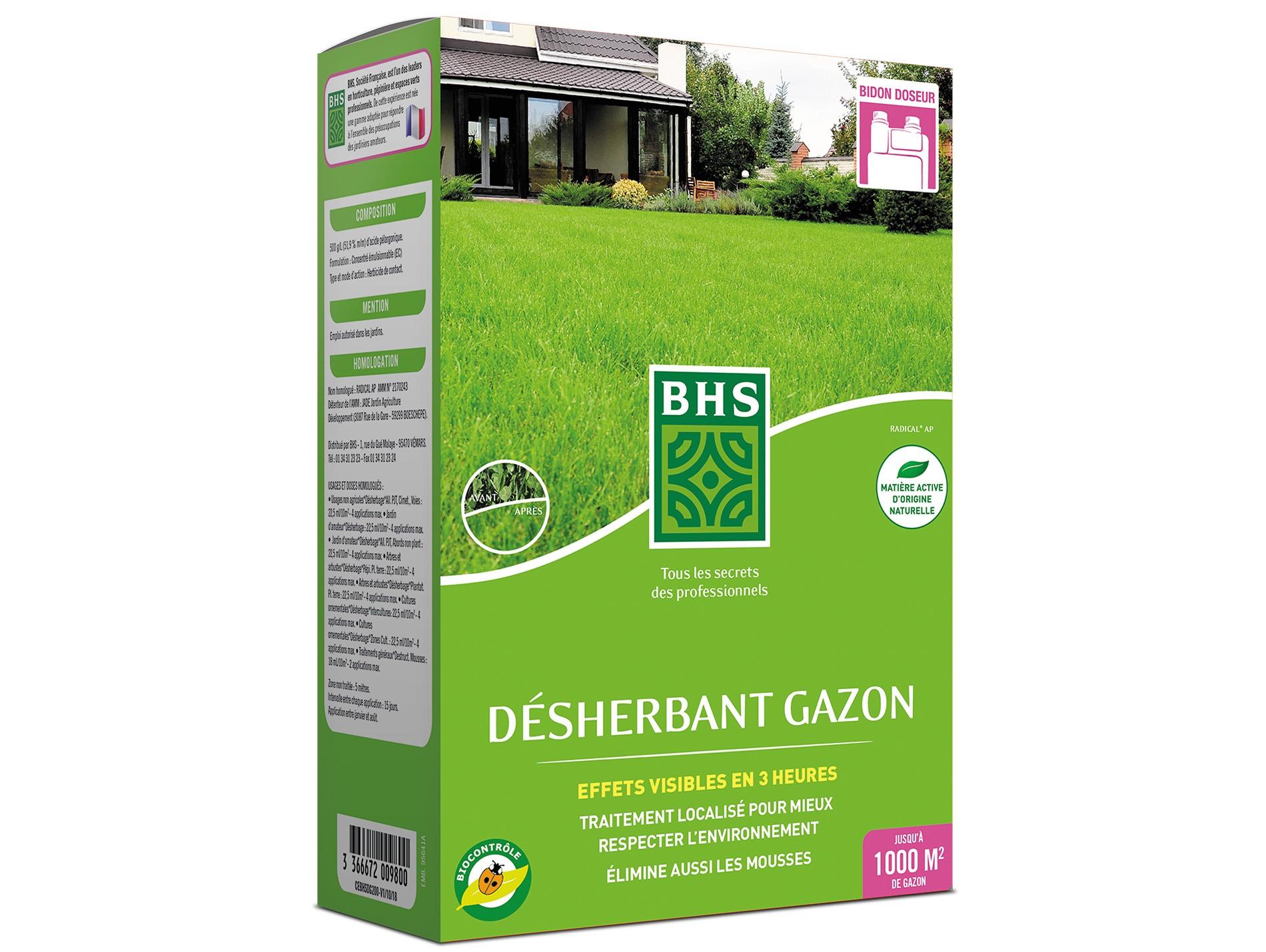 Désherbant Gazon 400Ml Bhs - Désherbant, Anti-Dépôts Verts ... avec Bayer Jardin Desherbant Gazon