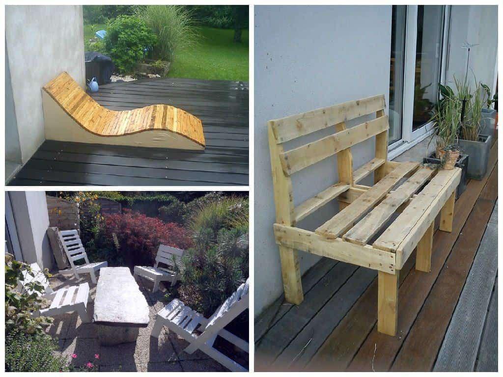 Design Pallet Garden Seats   Garden Seating, Pallet Seating ... encequiconcerne Siege De Jardin