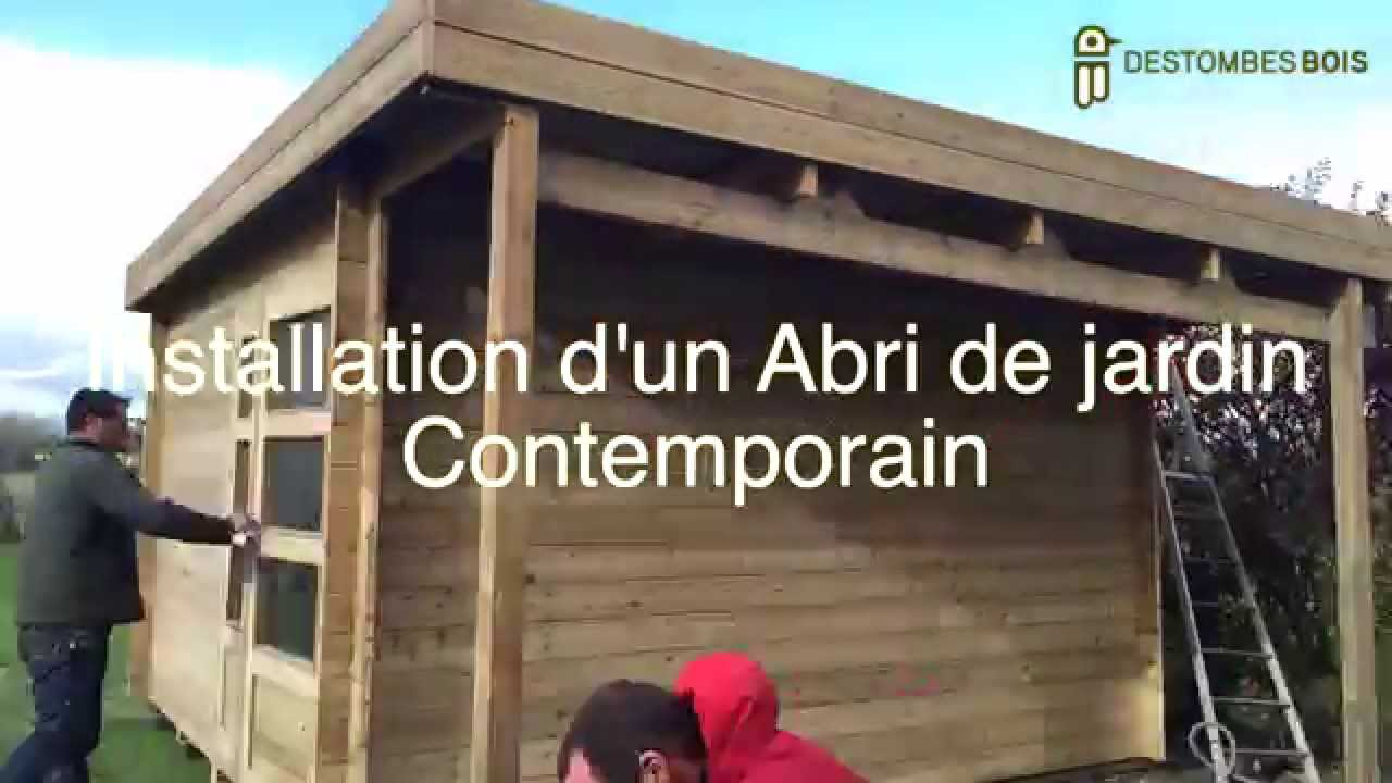 Destombes Bois #2 Montage D'un Abri Contemporain concernant Montage Abris De Jardin En Bois