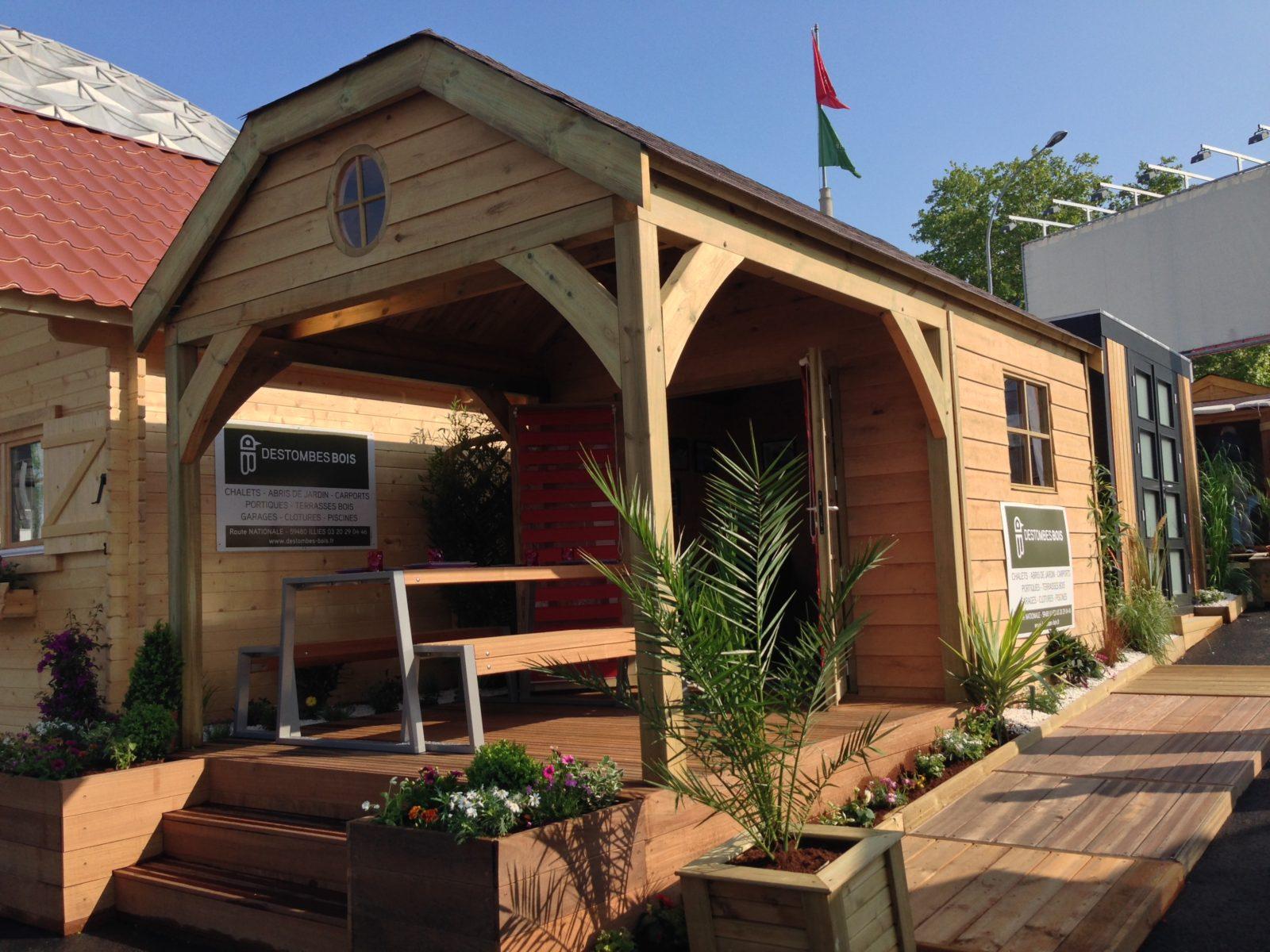 Destombes Bois | Abri De Jardin Bois - Garage - Carport ... encequiconcerne Fabricant Abri De Jardin Belgique