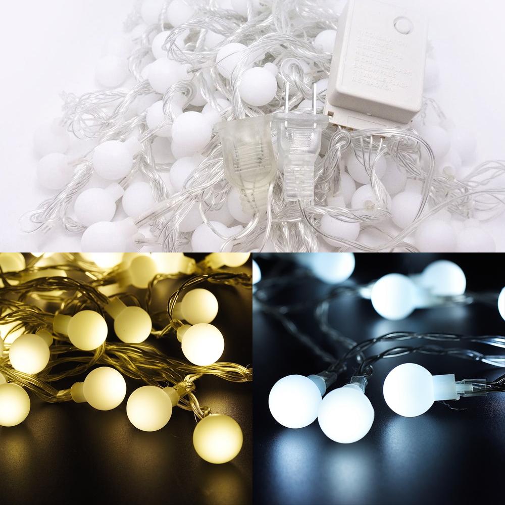 Details About Le Lighting Guirlande Lumineuse Led 10M 100 Boules Lumière  Pour Décoration Noël encequiconcerne Boule Lumineuse Jardin