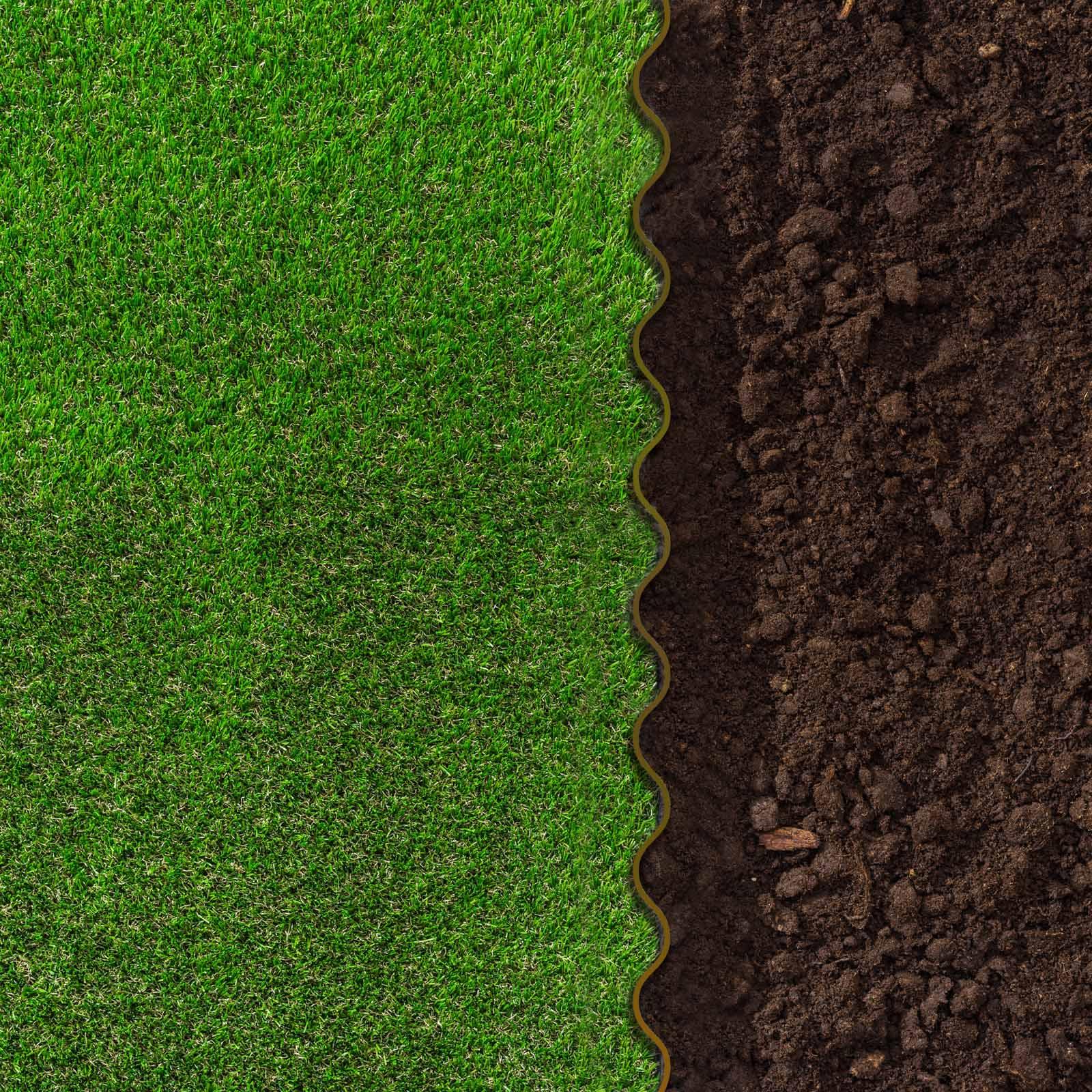Détails Sur 1.83€/m Bordure À Dérouler Jardin Marron 20Cm Longueur 9M  Délimitation Plateband concernant Delimitation Jardin