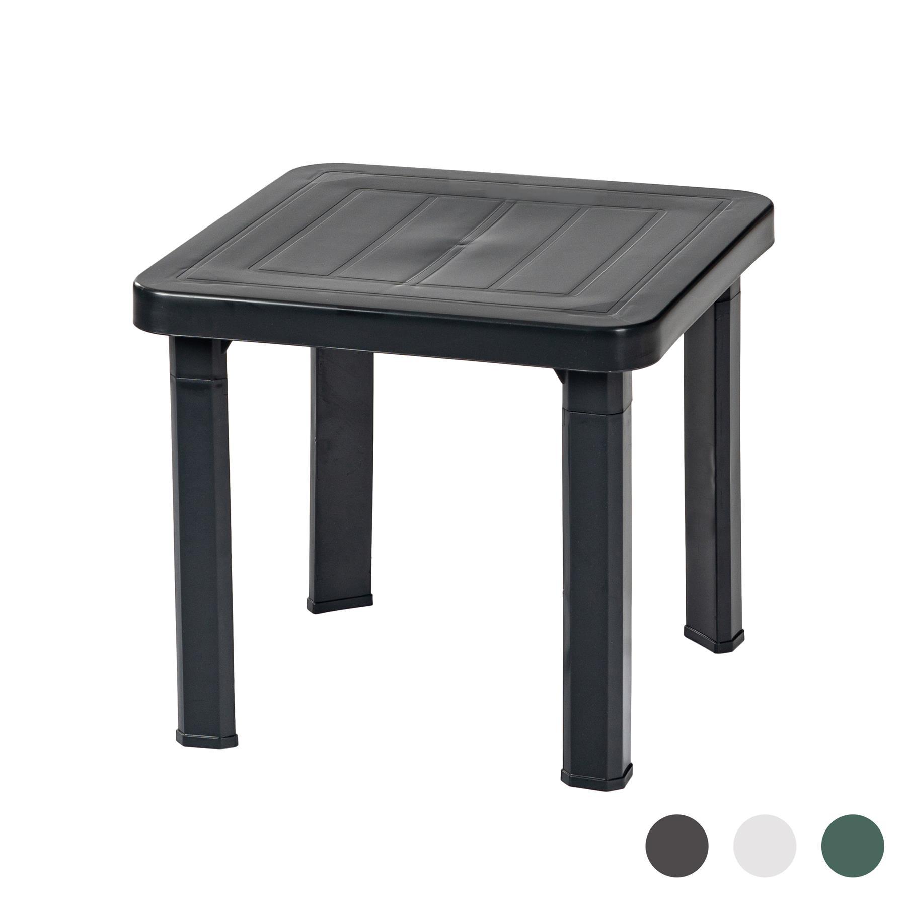 Détails Sur Andorre Plastique Jardin Table Basse Côté - Gris - Mobilier  D'extérieur à Table Basse De Jardin En Plastique