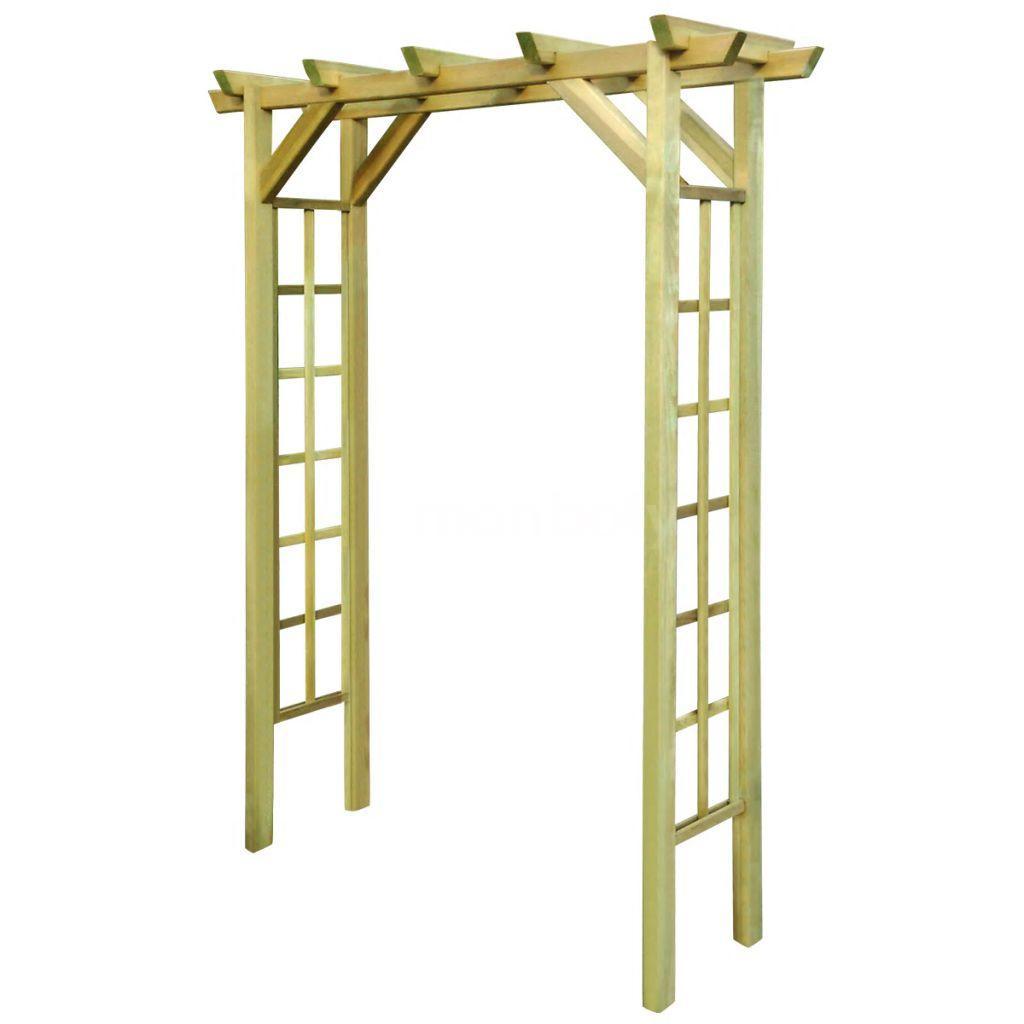 Détails Sur Arche Pour Rosiers 150 X 50 X 200Cm Bois Imprégné Fsc Patio De  Jardín Es Valores dedans Arche Jardin Bois