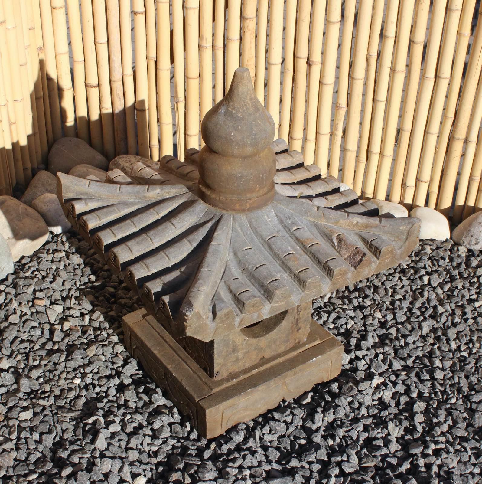 Détails Sur Asiatique Lanterne En Pierre Jardin Japonais Naturelle Déco  Pagode Geisterhaus destiné Lanterne Pierre Jardin Japonais