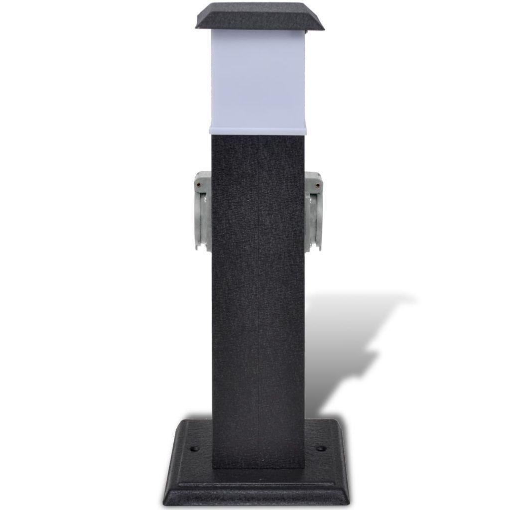 Détails Sur Borne Jardin Électrique 2 Prises Avec Lampe Bloc Prises  Extérieures pour Borne Electrique De Jardin Avec Prise