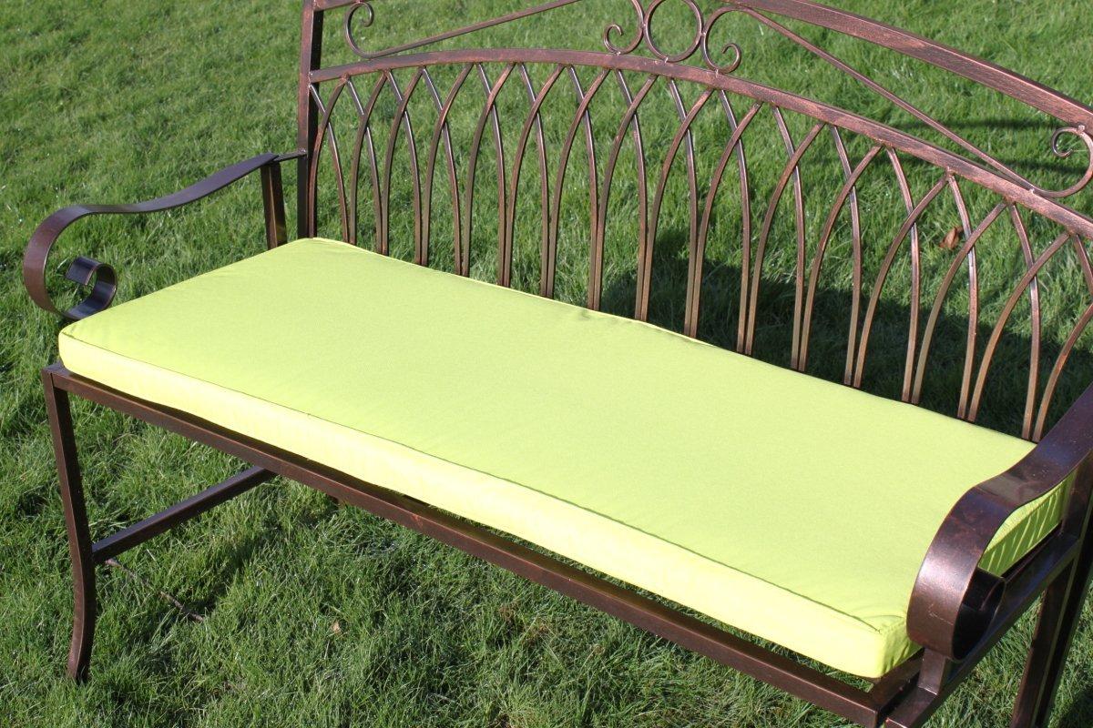 Détails Sur Coussin Pour Banc De Jardin En Métal 2 Places, Coloris Citron  Vert avec Coussin Pour Banc De Jardin