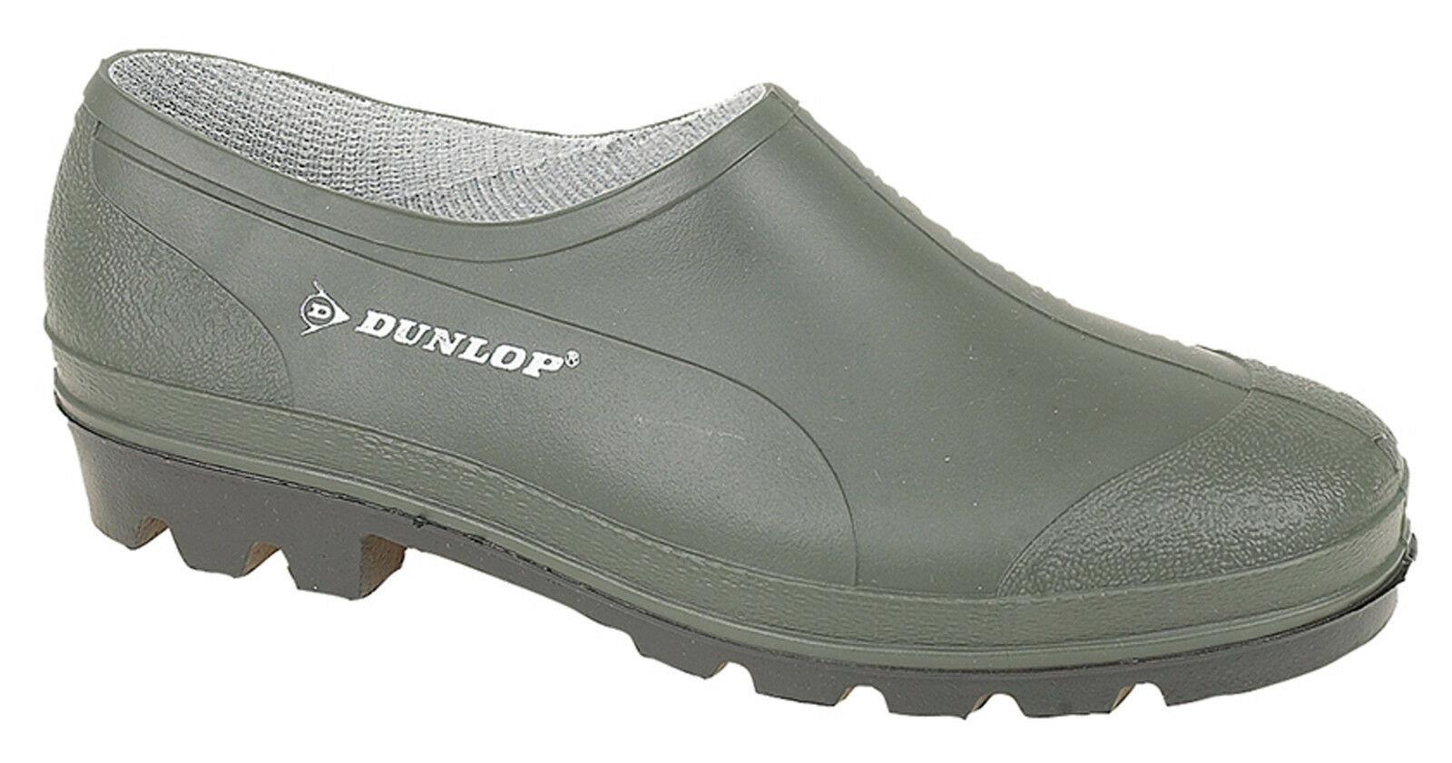 Détails Sur Dunlop Jardin Chaussures Unie Étanche Vert Jardinage Wellie  Sabots Tailles 3 avec Sabot De Jardin