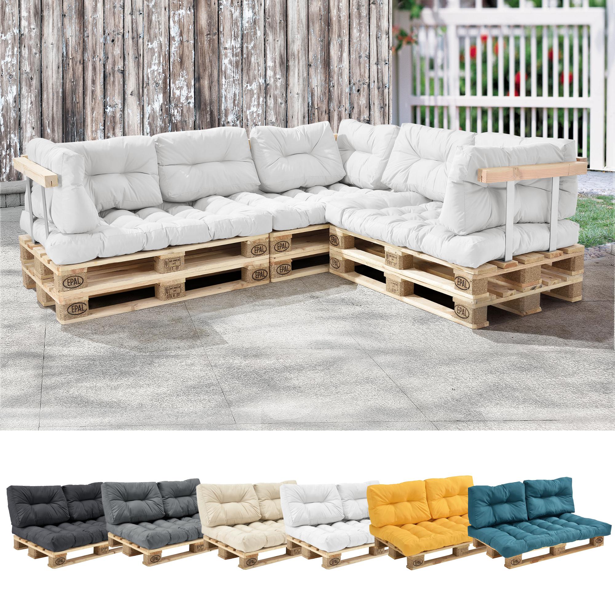 Détails Sur [En.casa] 1X Coussin De Siège De Palettes In/outdoor Coussin  Canapé serapportantà Coussin Pour Salon De Jardin En Palette