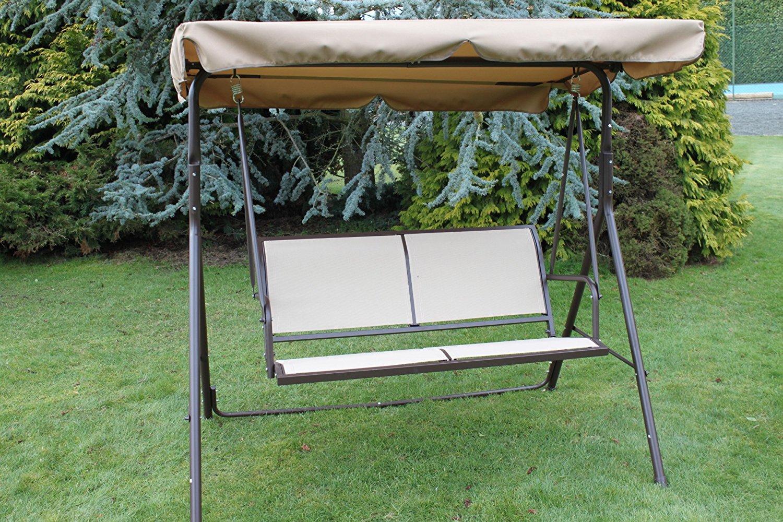 Détails Sur Olive Grove Textoline Balancelle De Jardin 2 Places En Acier Et  Assise avec Balancelle De Jardin 2 Places