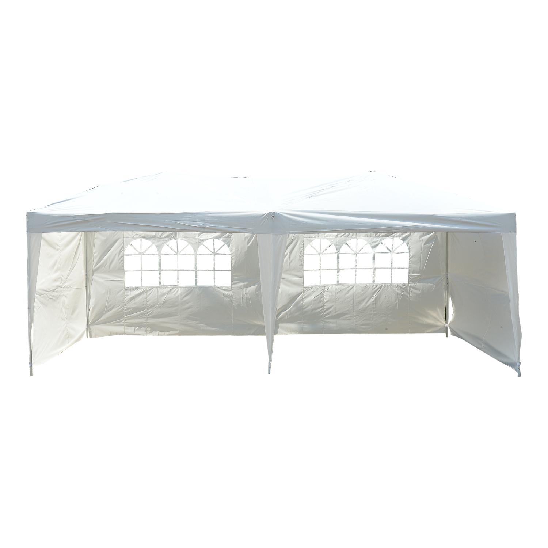 Détails Sur Outsunny Tonnelle De Jardin Tente Pavillon Chapiteau Pliable  Anti-Uv 6X3M pour Tonnel De Jardin