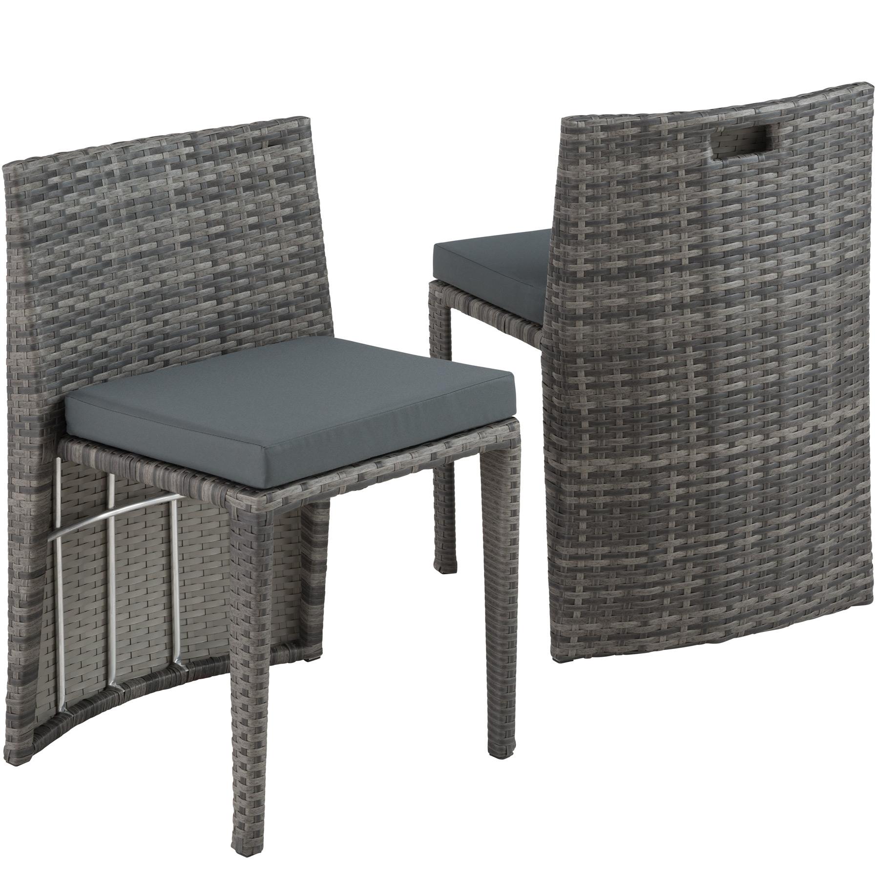 Détails Sur Salon De Jardin Résine Tressée 2 Personnes Mobilier Encastrable  Chaises Table pour Salon De Jardin Resine Encastrable