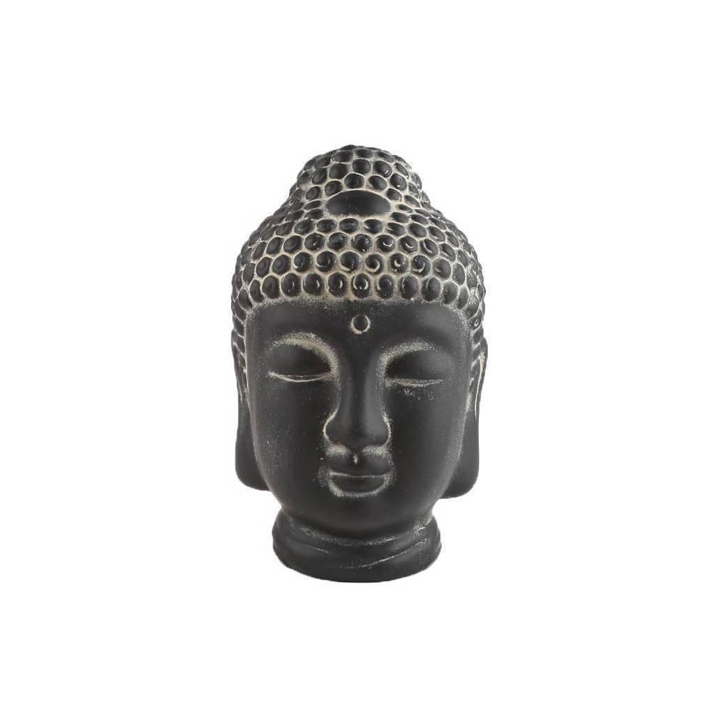 Détails Sur Tête De Bouddha Déco - Teinte Noire - H. 20 Cm dedans Tete De Bouddha Pour Jardin