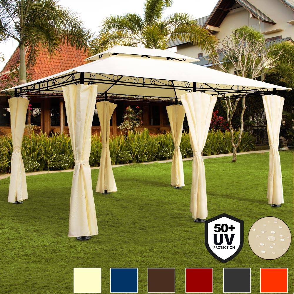 Détails Sur Tonnelle Topas - Tente De Réception Pavillon Barnum 4X3 M  Extérieur Fête Jardin pour Pavillon De Jardin Suisse