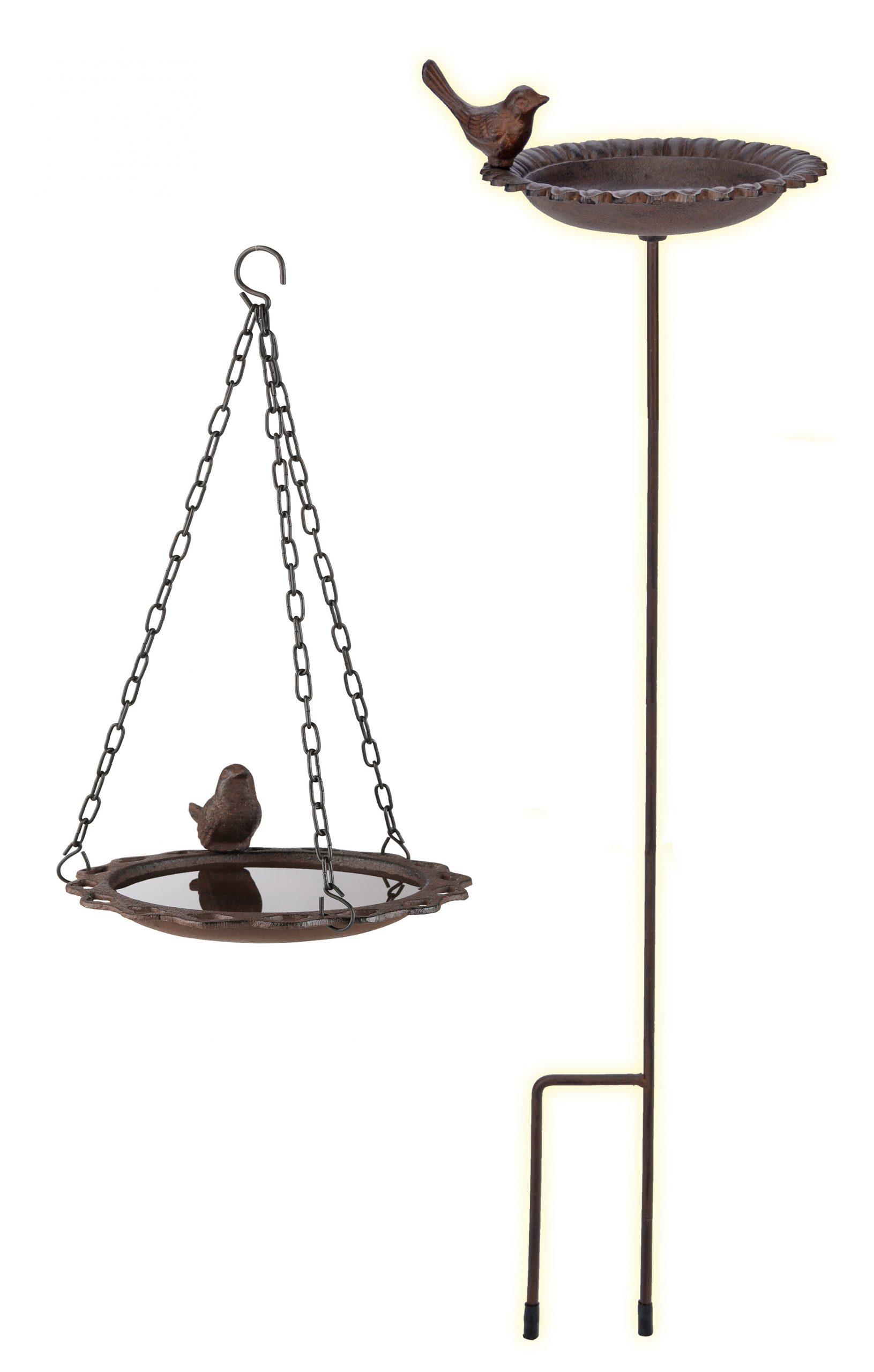 Détails Sur Vasque À Oiseaux Suspendues Debout Connecteur Barre Métal Fonte  Oiseaux Fontaine Jardin- Afficher Le Titre D'origine à Fontaine De Jardin En Fonte