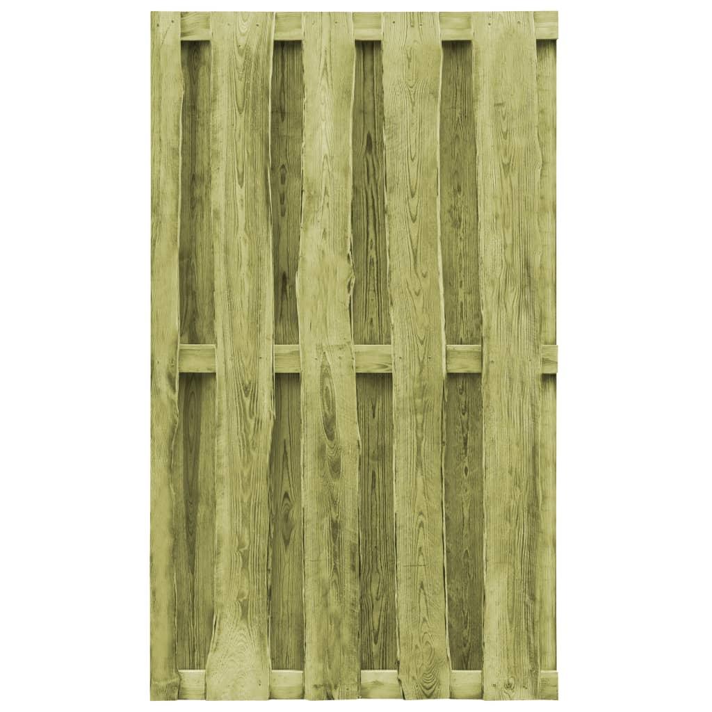 Détails Sur Vidaxl Portillon Bois De Pin Imprégné Fsc 100 X 170 Cm Vert concernant Portillon De Jardin En Bois