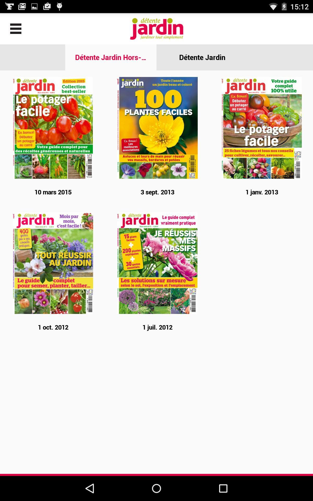 Détente Jardin - Le Magazine For Android - Apk Download concernant Jardiner Bio Magazine