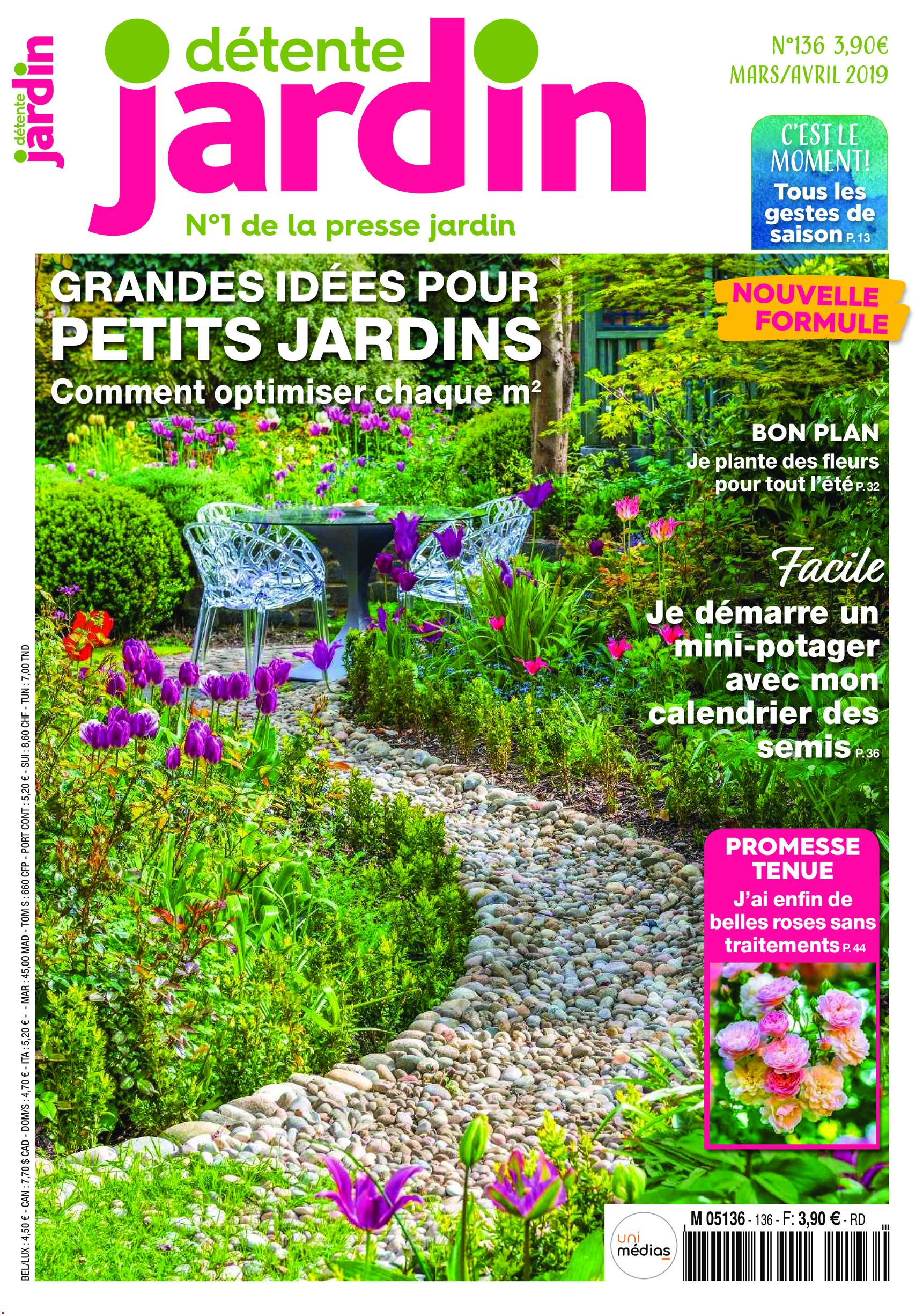 Détente Jardin - Mars/avril 2019 » Free Pdf Magazines For ... destiné Détente Jardin Magazine