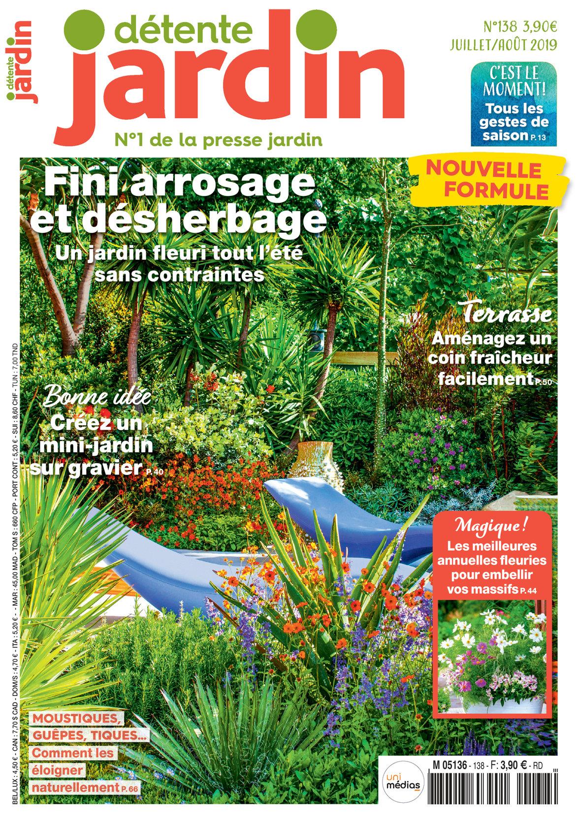 Détente Jardin N° 138 à Détente Jardin Magazine