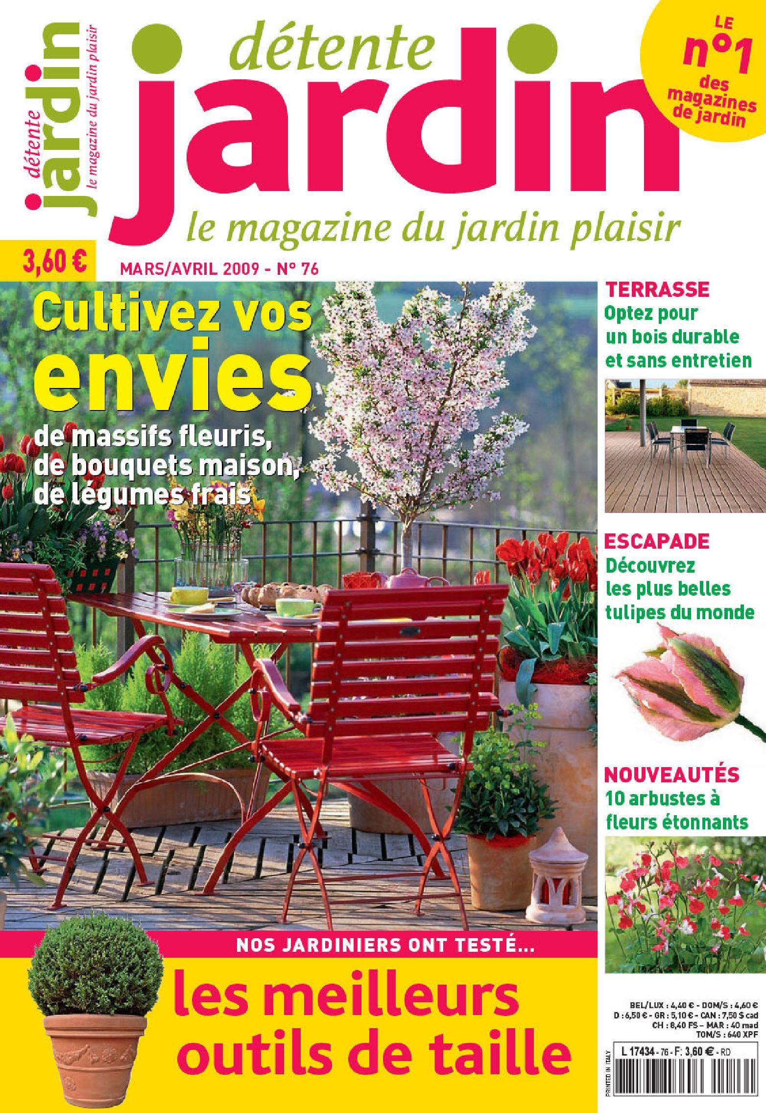 Detente.jardin.n73.french.mag-Eland By Ebooks Land - Issuu concernant Détente Jardin Magazine