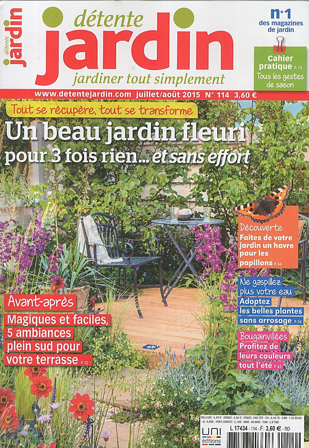 Direct-Éditeurs - * Le Service-Client Des Diffuseurs De Presse * à Détente Jardin Magazine