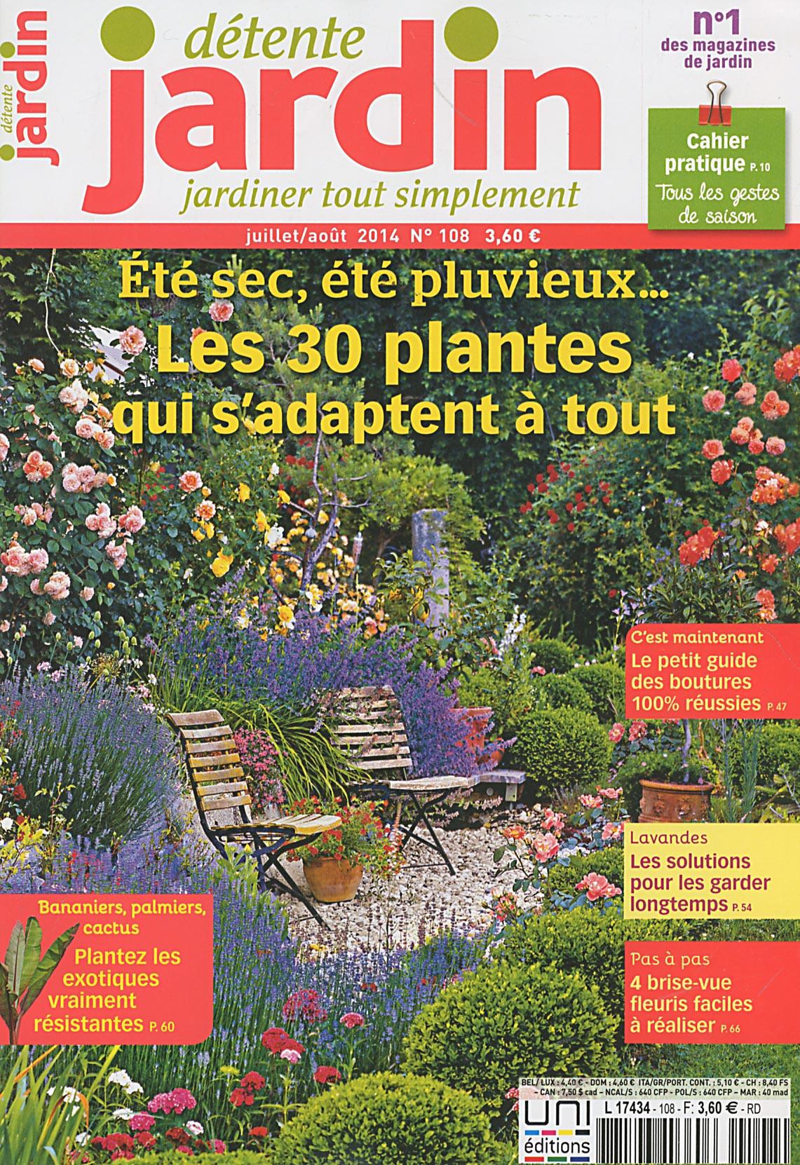 Direct-Éditeurs - * Le Service-Client Des Diffuseurs De Presse * pour Détente Jardin Magazine