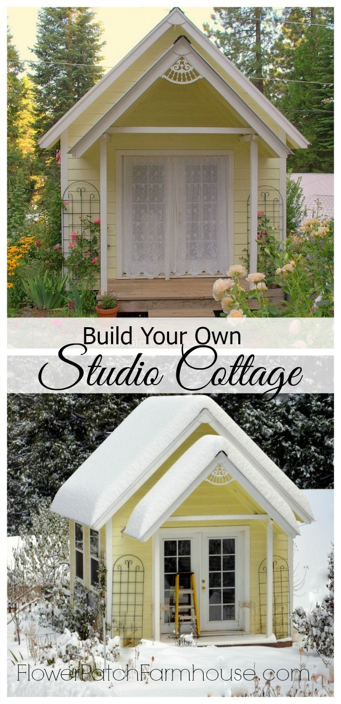 Diy Backyard Garden Cottage Studio Or Shed ... concernant Abri De Jardin Cottage